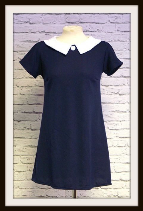 "LOVE HER MADLY ""DAISY"" A LINE DRESS WITH BUTTON DETAIL"